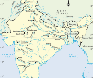 Major rivers and tributaries
