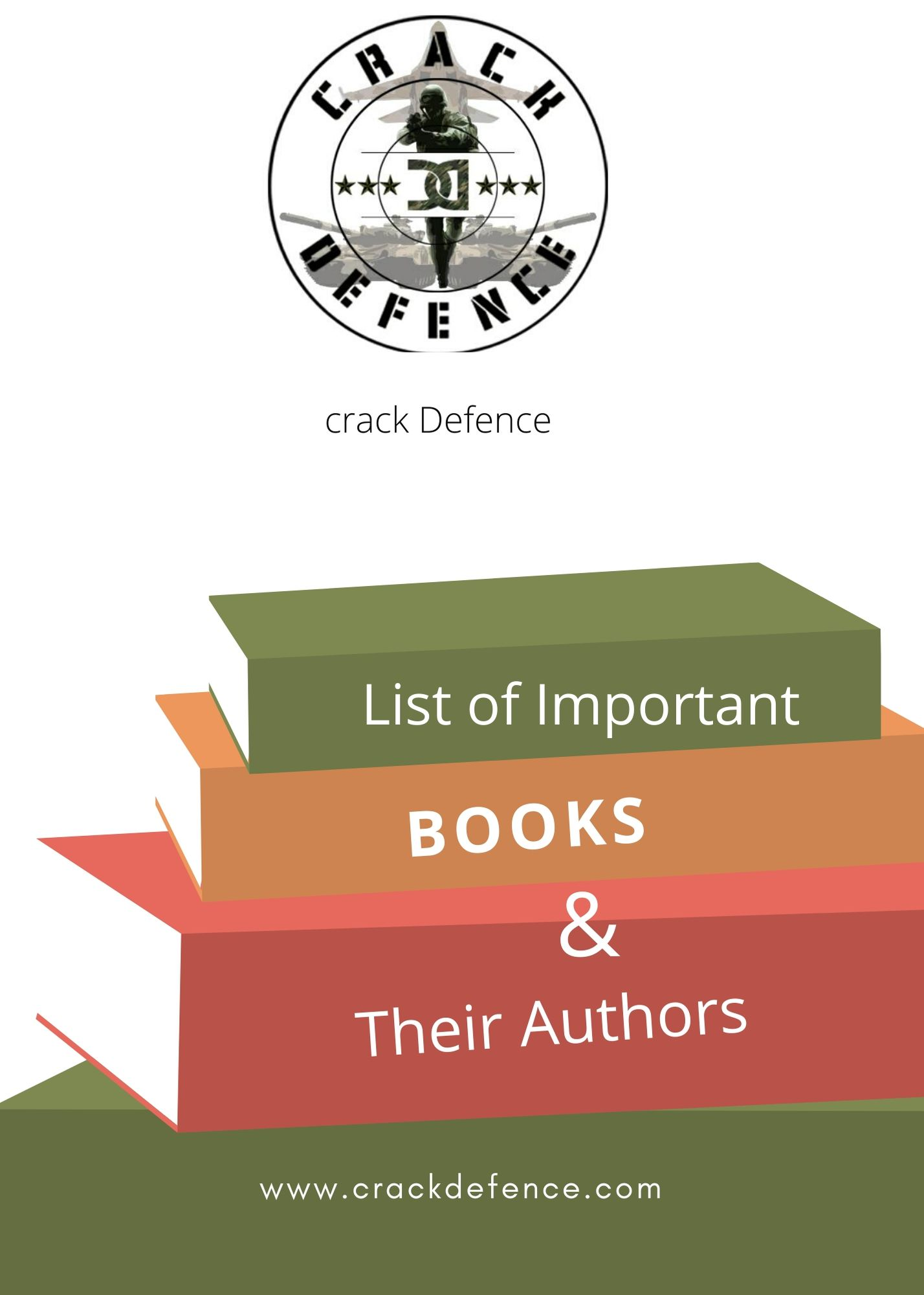List of Important Books and their Authors.